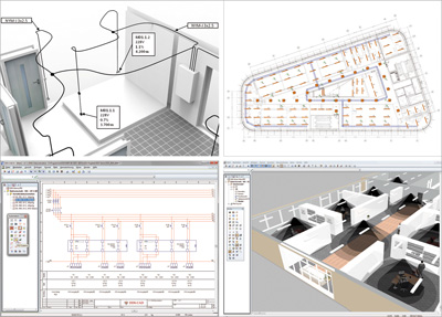 cad programm elektroinstallation elektro cad treesoft cad. Black Bedroom Furniture Sets. Home Design Ideas